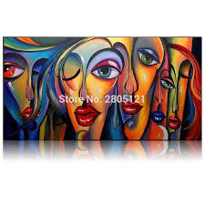hand painted modern art painting kissing girls portrait oil painting ideas red lips canvas painting home decoration wall picture in painting calligraphy