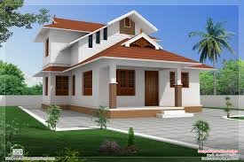 Small Picture 1364 SqFeet Sloping Roof Villa Design House Design Plans