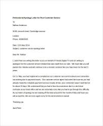 Customer Apology Letter Examples Interesting Professional Apology Letter 48 Free Word PDF Format Download