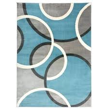 contemporary blue grey scroll circles design area rug rugs orange and brown modern s i