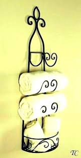wine rack towel holder or racks for towels rustic iron hanging w wall using ikea hangin