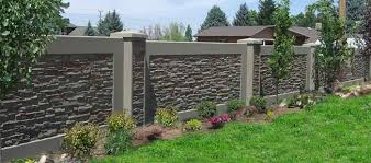 concrete block fence stonetree