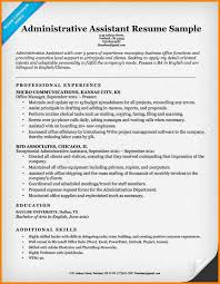 Sample Resume For Administrative Assistants 17 Administrative Assistant Sample Resumes World Wide Herald