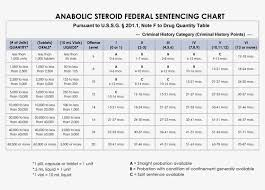 Sentencing Guidelines Chart 2018 Anabolic Steroid Federal Sentencing Chart Federal
