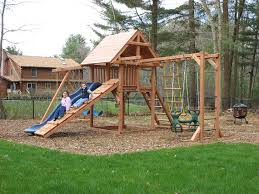 Swing Set Designs Diy Swing Set Idea Mulch And Even To Grass With A Board