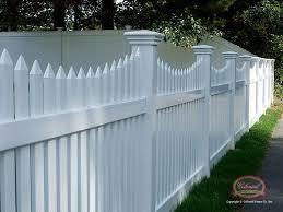 White Wood Fence Massachusetts Vinyl Fence Leader Colonial Fence Co
