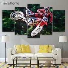 Motocross Bedroom Decor Online Buy Wholesale Motocross Wall Art From China Motocross Wall
