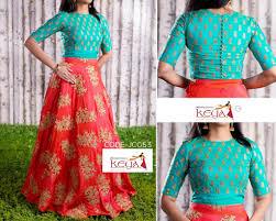Captop Dress Design Crop Top And Lehenga Lehnga Dress Saree Blouse Designs