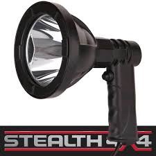 12 volt led handheld spotlight 5 inch hunting fishing camping spot light 4wd 4x4