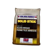 solid stick glass mosaic fixing tile adhesive