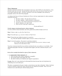 47 Fresh Thesis Statement Structure Structure