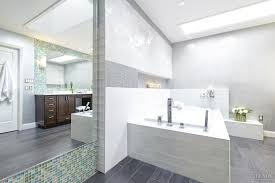 Tranquil Bathroom Tranquil Bathroom With Wood Cabinetry And Mosaic Tile