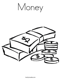 Money Coloring Page Twisty Noodle