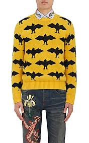 gucci sweater. gucci bat-pattern wool-alpaca sweater - sweaters 505308917