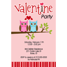 Owls Valentines Day Party Invitations Mckenna Layne Designs