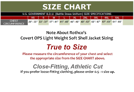 Soft Shell Jacket Size Chart Covert Ops Light Weight Soft Shell Jacket Coyote Brown
