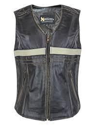 xelement xelement bxu1903vt women s brown leather touring biker vest brown small com