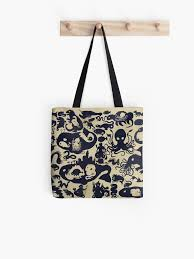 Redbubble Size Chart Size Chart Of Sea Monsters Tote Bag