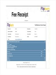 Fees Receipt Format College Magdalene Project Org