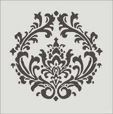 damask stencils damask design 4 3 stencil item 16x16 create your own pillows or use as a wall stencil