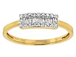 white diamond 14k yellow gold over sterling silver ring 20ctw