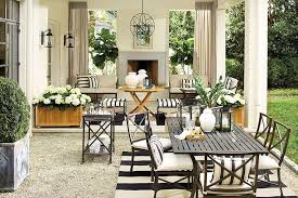 decorate outdoor spaces with stripes