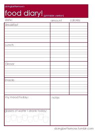 Calorie Journal Printable Game Templates For Google Slides Weekly