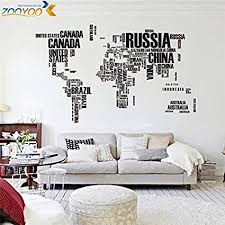 Amazon FairyTeller Creative Letters World Map Wall Stikers Home Inspiration Office Furniture World Creative