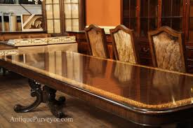 Inlaid Dining Table Walnut Inlaid Double Pedestal Dining Table Extension Table