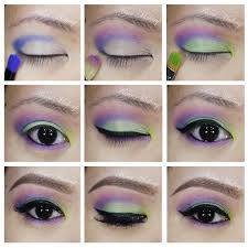fun and colorful makeup tutorial using urban decay s electric palette 80s