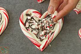 Peppermint Bark Candy Cane Hearts Oh Nuts Blog