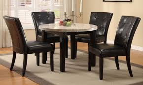 kitchen chairs leather round stone table tops round