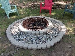 Fire Pit, Decorative Circular Blocks Fire Pit Ideas Pinterest Gallery  Animal Carved Metal Burner Custom