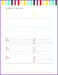 Address Book Template Address Book Template Printable Beautiful Lovely Sample Download