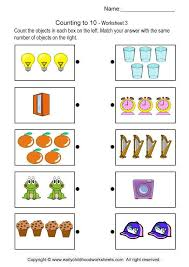 Counting to 10 - Brain Teaser Worksheets # 3