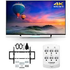 sony tv outlet. sony xbr-49x830c - 49-inch 4k ultra hd smart led hdtv flat \u0026 tilt wall mount bundle includes tv, kit tv outlet u