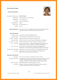 5 Curriculum Vitae Samples Pdf Fillin Resume