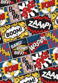 modern ic book superhero pattern color colour cartoon lichtenstein pop art art print