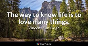 Vincent Van Gogh Quotes Best The Way To Know Life Is To Love Many Things Vincent Van Gogh