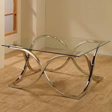 benjamin silver glass coffee table