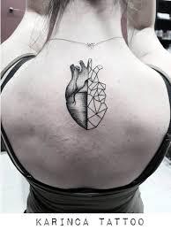25 Geometric Heart Tattoo Design Ideas For Loving People