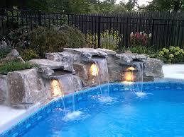 Inground Pool with Waterfall- LS Waterfalls