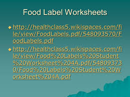 Food Labels. The Nutrition Facts Label  Contains product ...