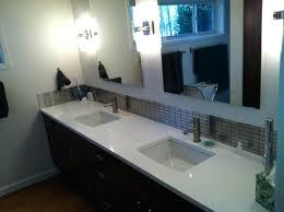 quartz vanity top contemporary bathroom with countertop white countertops