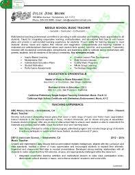 Modern Resume For Instructors Music Teacher Resume Sample