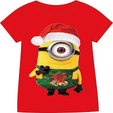 kids minion clothes children christmas clothing baby minions t ...