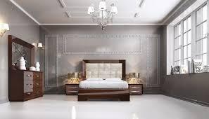 italian bedroom furniture modern. Carmen Walnut Modern Italian Bedroom Set - N Furniture