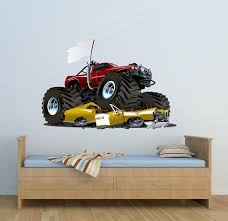 monster truck wall decals full colour monster truck wall decal car wall art sticker decal mural