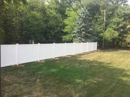 White fence Old Completed White Fence Vinyl Fence Post Protection Fence Armor Fence Guards And Post