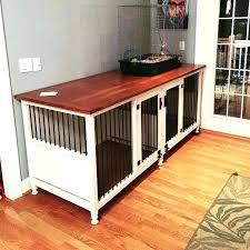 wooden dog crate furniture. Dog Crate End Table Large Russet Wood Furniture Uk Wooden